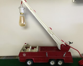 Vintage Tonka Fire Truck Lamp