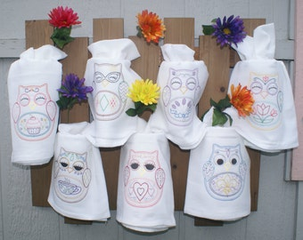 OHLI OWL Dish Towels (Set of 7) - Made to Order