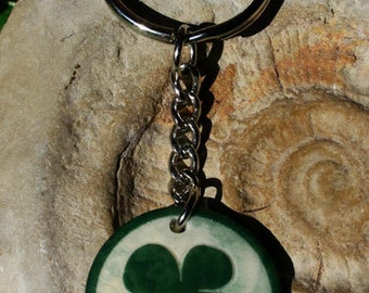 Quadrifoglio-key ring in vegetable ivory