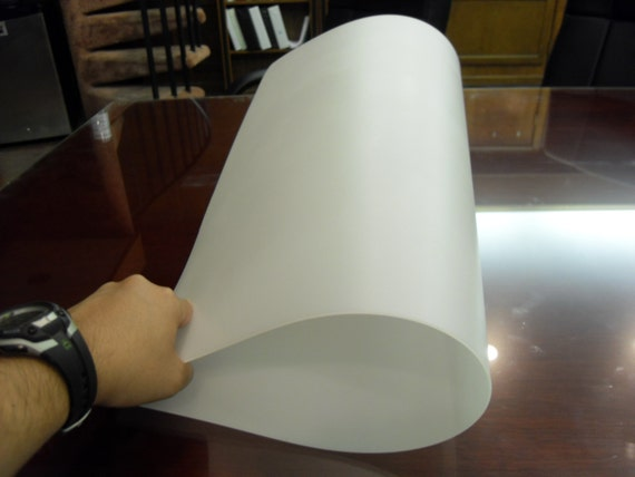 2 Thick 25x23x1 16 0 06 Flexible Translucent Plastic