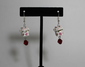 Beckoning Cat Earrings