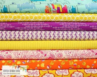 Utopia Bright Bundle From Art Gallery ( 8 Fabrics Total)