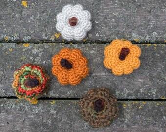 Mini Crochet Pumpkins