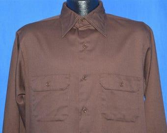 70s Big Mac Brown Heavy Button Down Shirt Medium