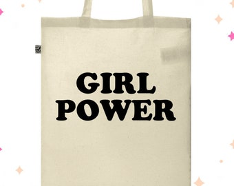 Girl Power Bag, Feminist Tote, Tote Bag, Feminist Gift, Feminist Tote Bag, Feminism, Girl Power, Tote, Canvas Tote, Gift for Her, AF