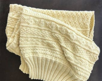 Knitted Gansey Stole