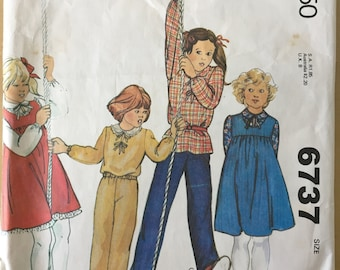 McCall's #6737 - Size 2 Toddlers' and Children's Jumper, Blouse and Pants Pattern