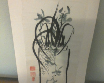 RICE PAPER ART Signed