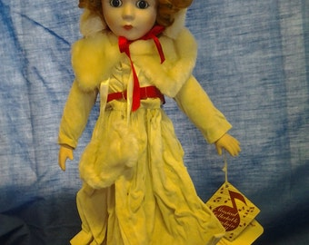 Porcelain Doll with Music Box