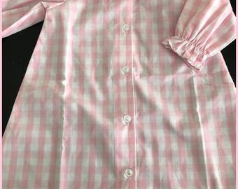 Infant Daygown Pink Check