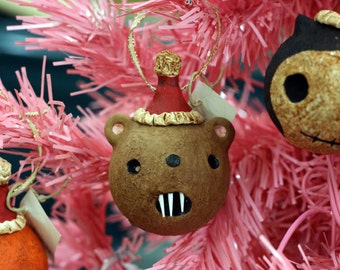Fanged Teddy Bear Ornament