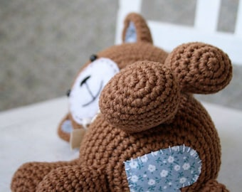 PATTERN - Smugly-bear - crochet amigurumi pattern, PDF (English, Dutch)