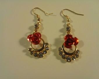 Red Rose Earrings 249469
