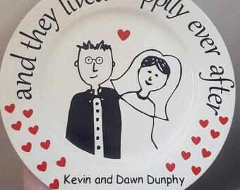 Wedding Keepsake Plate