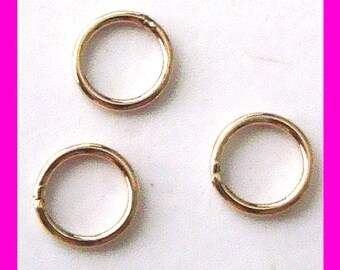 4mm 22 gauge 14k yellow  gold filled round closed soldered jump rings Gr16