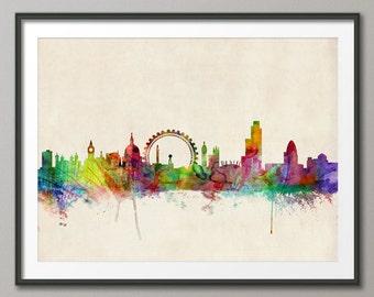 London Skyline, London Cityscape England, Art Print (282)