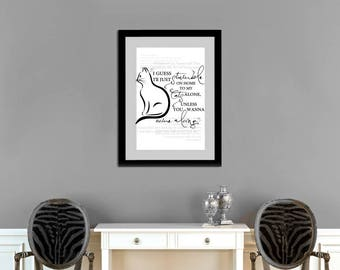 Stumble On Home To My Cats Printable Wall Art - INSTANT DOWNLOAD - Lyric Art, Gorgeous , Taylor Swift