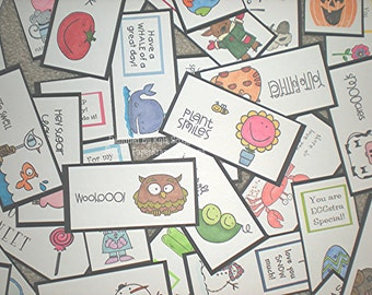 Mega Set of Lunch Box Love Notes includes 192 Notes, Lunch Notes for Kids, Lunch Box Notes