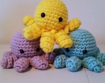 Easy Amigurumi Octopus : Crochet tutorial octopus amigurumi crocheted octopus pattern