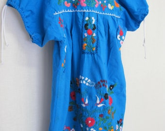 Mexican Dress Tunic Oaxaca dress Peasant Dress Embroidery Dress Hippie Dress