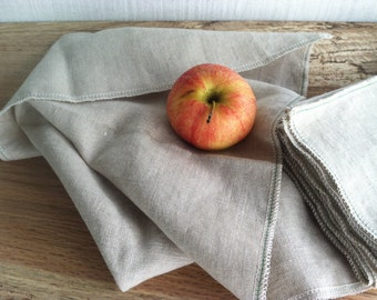 Natural Linen Napkins for Everyday Use, Choose Your Quantity