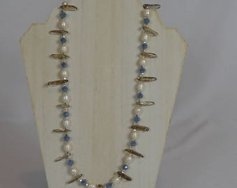 Crystal, Quartz and Pearl Necklace