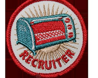 Toaster Oven - Recruiter Gay Badge