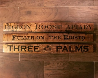 Customized Hand Painted Bourbon Barrel Stave