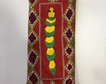 Handmade embroidered Glasses or iPhone case - animal detail Malagasy Design