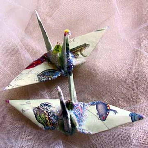 frog peace crane bird wedding cake topper party favor origami