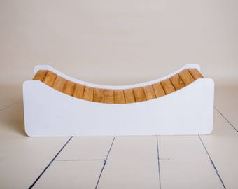 Curved Bench/Bridge Photography Prop, Newborn Baby Toddler Photographer, Ideal For Outdoor Photo Shoots, Wood Furniture Photo Prop, COLORS