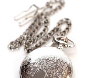 Pocketwatch , Silver Pocketwatch , Travel Gift , Pocketwatch Case , Pocketwatch Chain , Pocketwatch Holster , Pocketwatches , Wedding Gift