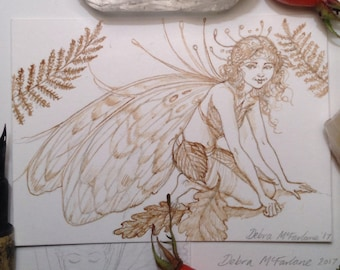 Fairy picture, ACEO card, faery, Fairy art, original drawing