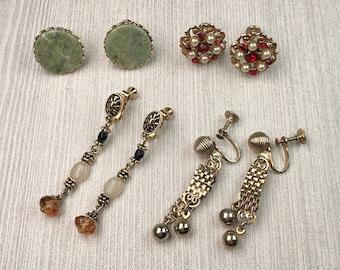 Vintage Earring Lot | Screw Back | Craft Jewelry