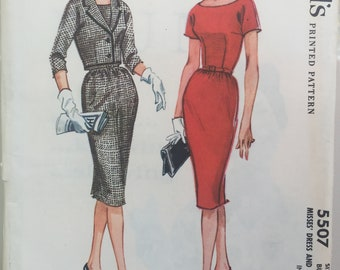 Vintage McCalls 5507 dress pattern