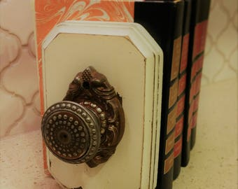 Vintage Doorknob Bookends
