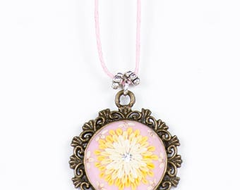 Polymer Clay Victorian Style Necklace