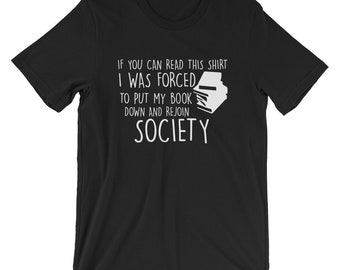 If You Can Read This T-shirt Book Lovers Funny Tee