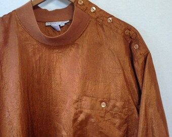 1990s copper pullover blouse by LAURA AND JANE size 16