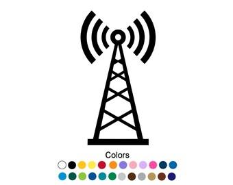 Radio Tower Decal Radio Tower Sticker Outdoor Vinyl Custom Sticker Amateur Radio Decal Ham Radio Sticker Radio Operator Radio Gift D1114