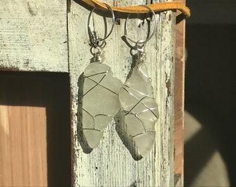 Washington Sea Glass Dangle Earings
