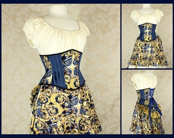 Doctor Who Exploding T.A.R.D.I.S. Steel Boned Corset - You Choose Your Corset Style - Custom Sized