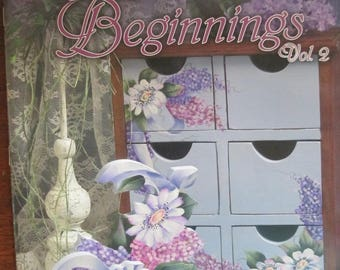"""Folk Art 2006 Decorative book """" Acrylic Beginnings Vol 2"""" by Lois Hammel 30 pages used book"""