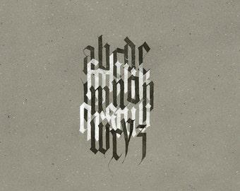 Fine art print: Gothic Alphabet