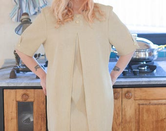 Khaki Vintage Midi Dress