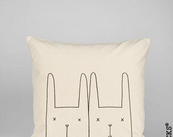 Woolocks® Bunny Twins Cushion 45x45cm