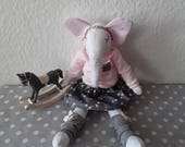 Lilou Design Set cuddly elephant girl 40 cm size stuffed animal with clothes