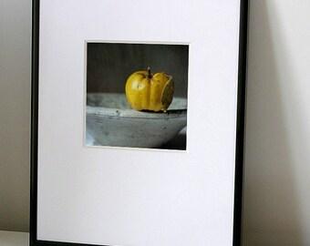 A quince on a rim, Fine art photograph, print 8x8