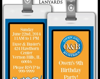 Custom Dave and Busters Inspried Invitations for Birthday
