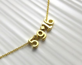 Gold Wedding Date Necklace • Bridal Necklace  • Personalized Wedding Gift • Valentines Day Gift • Wife Gift • Expectant Mother Gift